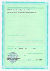 Лицензия на осуществление медицинской деятельности (стр.2)